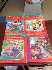 Lot of 4 BRIGHTER CHILD WORKBOOK Grade 2 Spelling Reading Math Basic Skills