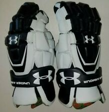 New listing Lacrosse Gloves Under Armour Large Black and White Used Heat Gear