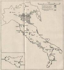 ITALIA. sistemi di recupero di terreni, 1933. ww2 Royal Navy Intelligence MAP 1945