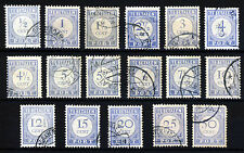 NETHERLANDS 1912-21 The Complete POSTAGE DUES Set  SG D72 to SG D88 VFU