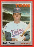 1970 Topps #290 Rod Carew GOOD CREASE Minnesota Twins Hall of Fame FREE SHIPPING