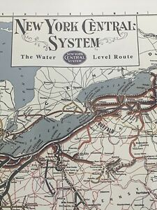 """NEW YORK CENTRAL RR 1951-2002  - 34""""X 18"""" SYSTEM MAP"""