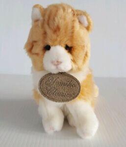 """Yomiko Classics Orange Tabby Kitty Cat 6"""" Plush Stuffed Animal Russ Berrie"""