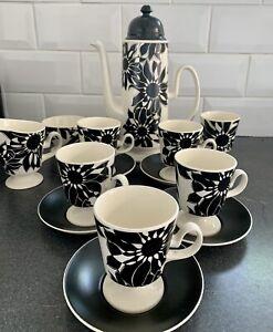 Stunning Carlton Ware Coffee Set Black And White