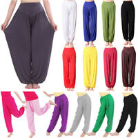 Womens Plain Harem Ali baba Pants Kids Boys Unisex Trousers Baggy Leggings Dance