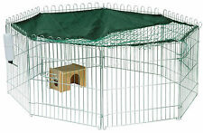 Metall Freilaufgehege XL groß Kaninchengehege Netz Kleintiergehege Hasengehege