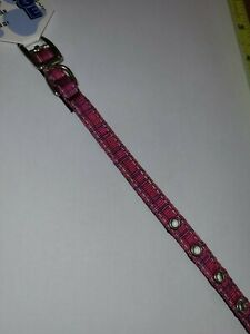 Mirage Pet 126-013 38PK12 Plaid Nylon Dog Collar with Classic Buckle 10 inch