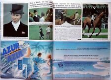 Princess ANNE of England=> 6 pages Spanish 1982 Clipping !!!