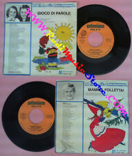 LP 45 7'' ZECCHINO D'ORO Gioco di parole Mamma folletta ANTONIANO no cd mc vhs*