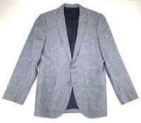 J Crew Ludlow Cotton Unstructured Sport Coat Blazer Blue Chambray 38 R Jacket