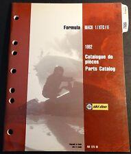 1992 SKI-DOO MACH 1, MACH XTC, & XTC II PARTS MANUAL P/N 480 1275 00  (641)