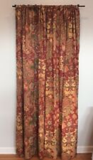 Pottery Barn Clara Burnt Red Rust Floral Drapes Curtain Panels Set Of 2 50x96