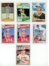 Topps/Fleer Star Rookie Lot (6) Henderson Smith Mattingly Ripken McGwire ExMt NM