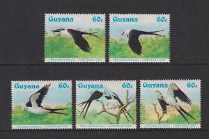 Guyana - 1984, Christmas, Swallow Tailed Kites, Birds set - MNH - SG 1425/9
