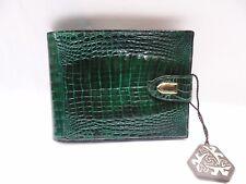 PORTAFOGLIO donna Vero COCCODRILLO Pon Pon Made Italy | Verde | Crocodile Wallet