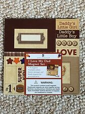 New 15 Magnets Daddy's Little girl boy I love Dad Photo Frames Fathers day