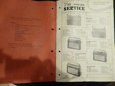 Original SEL Schaub Lorenz Serviceunterlagen Koffergeräte 1963