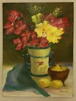 FLORAL ART by Lidia A original colorful oil painting on Canvas