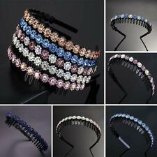 Fashion Women's Crystal Headbands Hairband Flower Hair Band Hoop Accessories x1