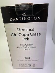 Dartington Crystal Stemless Gin Copa Glasses Pair