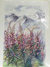 Marlene Anderson Watercolor Fireweed Alaskan Summer 343/850 Signed Print, Nature