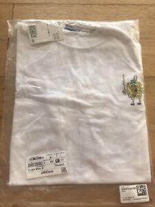 H&M SpongeBob White Tshirt Mens Medium NEW BNWT