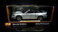 1/18 Maisto 2003 Ford SVT Mustang Cobra convertible silver w/black int. rare MIB