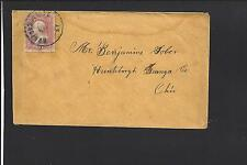 MUMFORDVILLE, KENTUCKY COVER. HART 1882/OP. VF COVER TO OHIO.