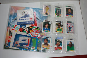 Panini France 98 loose set, empty album, packet, extra stickers, MINT quality
