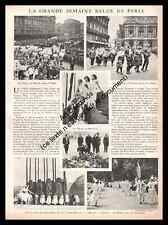 1931 La Grande Semaine BELGE de Paris Gilles de Binche Ostende Pierrots Belgique