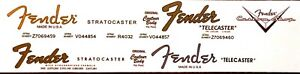 2 Fender Stratocaster and 2 Fender Telecaster + 1 Custom Shop Waterslide Decal