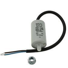 AnlaufKondensator MotorKondensator 4µF 450V 30x51mm Leitung M8 ; Miflex ; 4uF