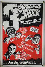 SUPERSTARS OF SHOCK FF ORIG 1SH MOVIE POSTER BORIS KARLOFF BELA LUGOSI (1972)