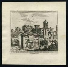 VUE DE LA VILLE DE LYON Gravure originale ISRAEL SILVESTRE 1635