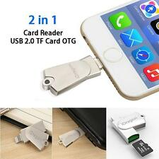 USB Micro SD SDHC TF OTG Card Reader Writer For Apple iPhone 6s 7 Plus