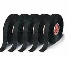 New listing 5 Rolls Tesa Black Fuzzy Fleece Interior Wire Loom Harness Tape for Vw Audi Bmw