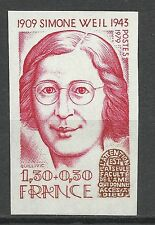 France Simone Weil Non Dentele Imperf Proof Essay Prueba Ongetand Probe ** 1979
