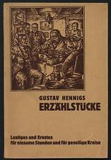 Gustav Hennigs Erzählstücke Hennig handsigniert 1935 Bibliothekar Leipzig