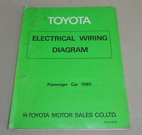 Workshop Manual Electrical Wiring Diagram Schematics Toyota Passenger Cars 1980