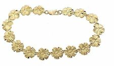 14KT. Gold Hawaiian Hibiscus Flower BR1-HIB10MM Bracelet 10MM FIne Jewelry