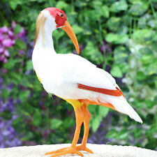 Garden Bird Ornament Realistic Red Crested Ibis Animal Outdoor Statue NEW