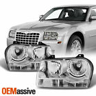 Fits 05-10 Chrysler 300 Replacement Halogen Type Headlights Headlamps LH + RH  for sale