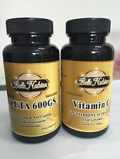 BELLE NUBIAN GLUTA 600GS WHITENING AND ANTI AGING PILLS +VITAMIN C 1000mg