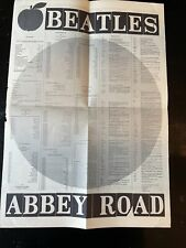 the BEATLES RARE ABBEY ROAD Lp TOUR POSTER From Apple Press Office London Lennon