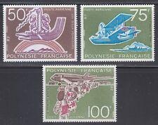 French Polynesia 1975 MNH Sc C112-C114 Mi 192-194 15th's of Tahitian aviation