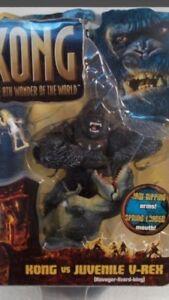 King King 8TH Wonder - 2005 Playmates King Kong Vs Junior V-Rex Set MIB Opened