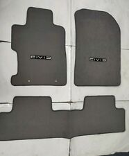 For 06-11 Honda Civic 2 4Dr Floor Mat Carpets Gray Nylon W/Emblem