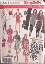 Mini Dress Tunic Sewing Pattern Simplicity 3560 Sizes 4 6 8 10 12 UNCUT