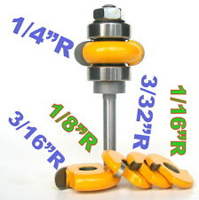 "1PC 1/4"" SH 1/4"" radius Flute  Assembly Router Bit & 4 Cutters  Set sct-888"