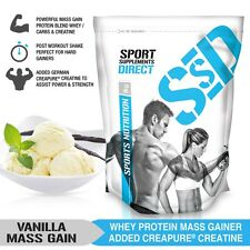 1KG VANILLA MASS GAINER - 1:1 WHEY PROTEIN CARB RATIO MASS GAIN WITH CREAPURE